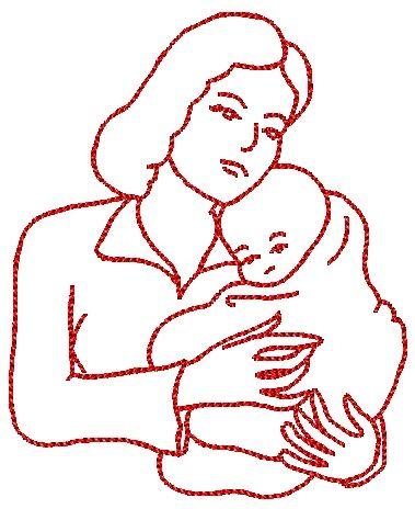 Coloriage de maman et bebe - Dessin de maman ...